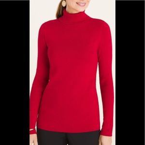 Chico's NWT Red Holly Turtleneck Sz 3 (16-18)